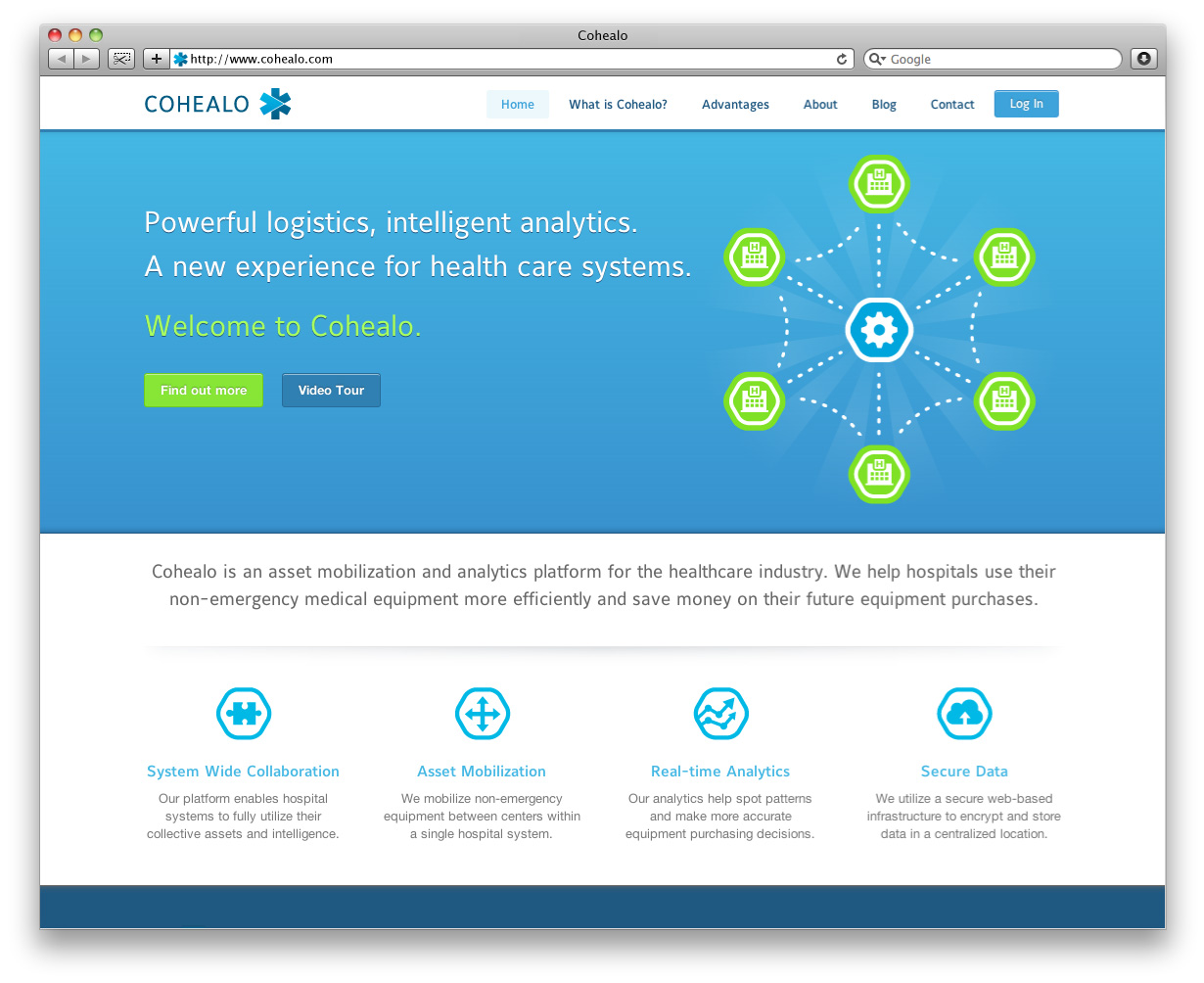 Cohealo Website Home Page