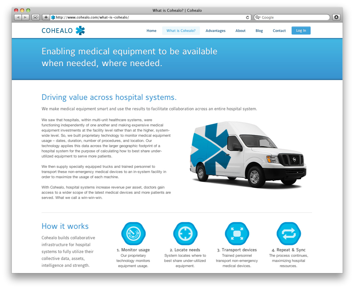 Cohealo Website Interior